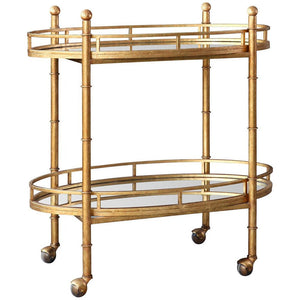 Normandy Bar Cart in Gold - GDH | The decorators department Store