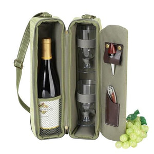 Sunset Wine carrier | Hamptons Green - GDH | The decorators department Store