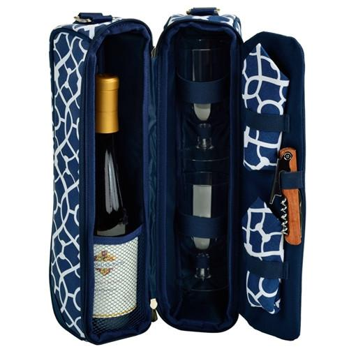 Sunset Wine carrier | Trellis Blue - GDH | The decorators department Store