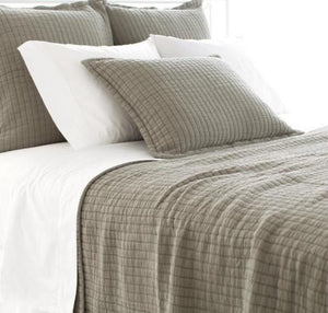 Boyfriend Matelasse Coverlet | Grey