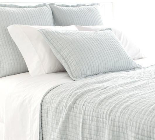 Boyfriend Matelasse Coverlet | Sky - GDH | The decorators department Store