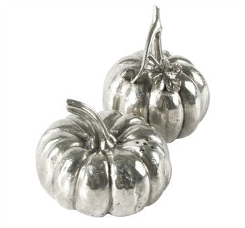Pewter Pumpkins Salt & Pepper Set - GDH | The decorators department Store