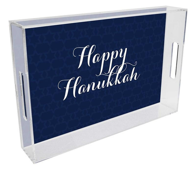 Navy Star of David Lucite Tray - GDH | The decorators department Store