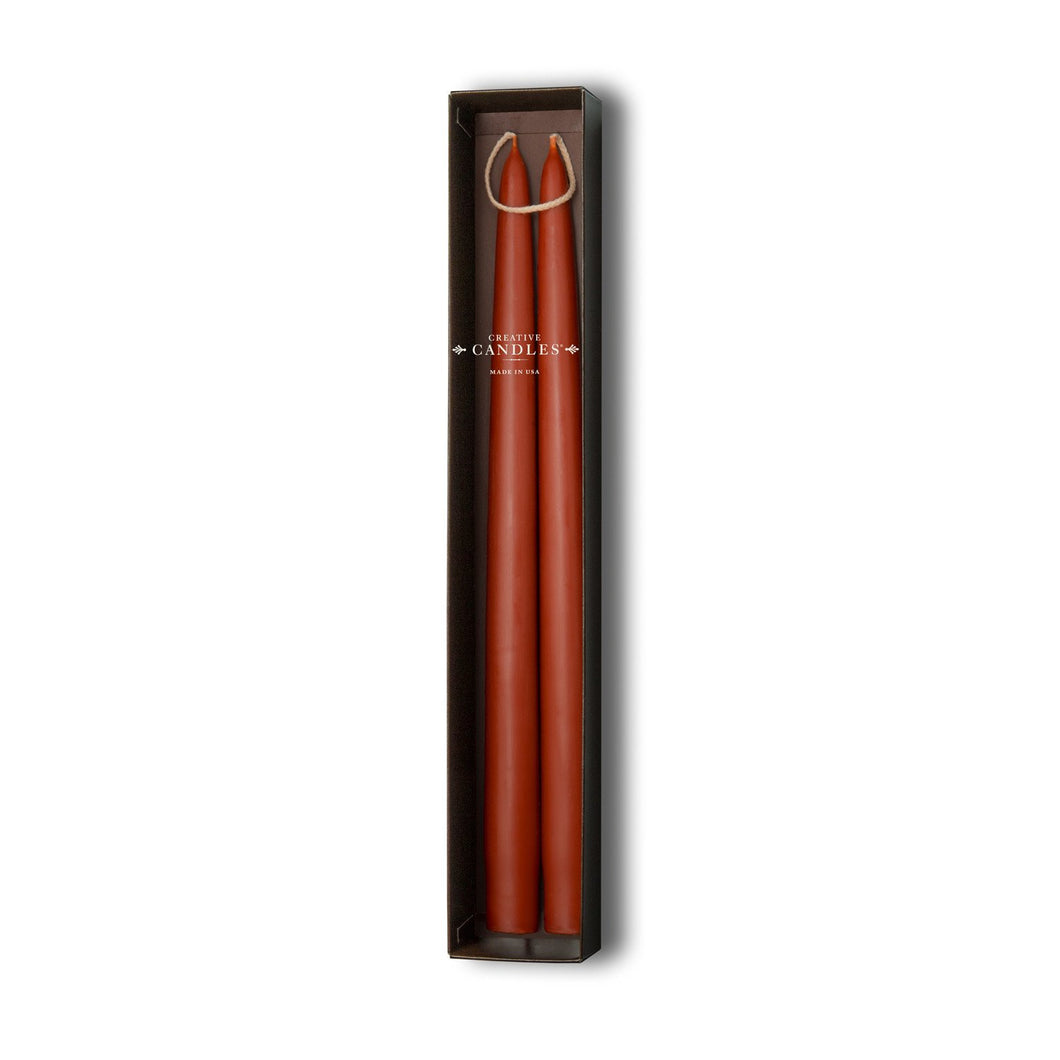 Beeswax Tapers - 4 sets of 2 | Rust
