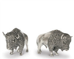 Pewter Bison Salt and Pepper Shaker Set - GDH | The decorators department Store