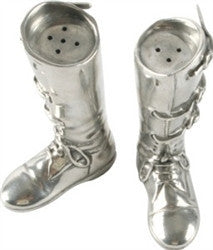 Pewter Riding Boot Salt and Pepper - GDH | The decorators department Store