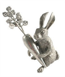 Pewter Rabbit and Carrot Salt and Pepper Set - GDH | The decorators department Store