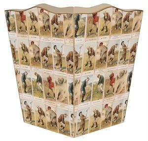 Antique Golfers Wastebasket - GDH | The decorators department Store