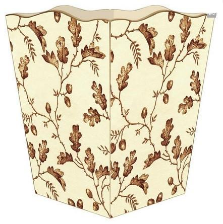 Brown Acorn Wastepaper Basket - GDH | The decorators department Store