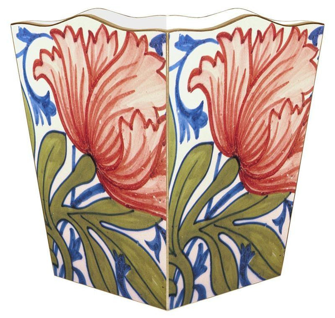 Delft Tile  Wastebasket - GDH | The decorators department Store