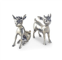 Pewter Reindeer Couple Salt and Pepper Shaker Set - GDH | The decorators department Store