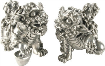Pewter Foo Dog Salt and Pepper Shaker - GDH | The decorators department Store