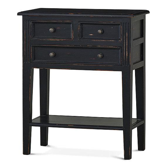 Eton 3 Drawer Side Table in Black Harvest