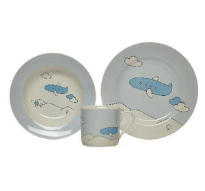 Blue Airplane Baby Set by Sambonet - GDH | The decorators department Store