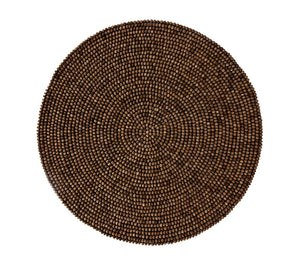 WOOD BEAD PLACEMAT IN BROWN - GDH | The decorators department Store