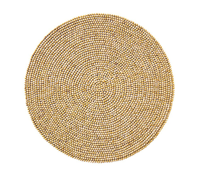 WOOD BEAD PLACEMAT IN NATURAL - GDH | The decorators department Store