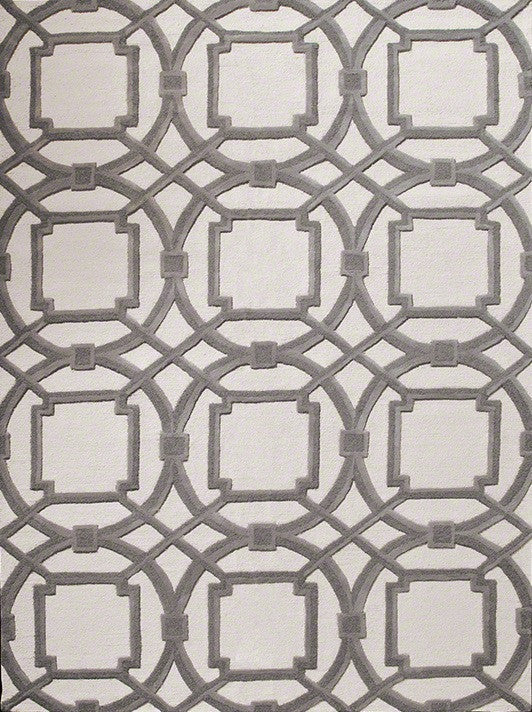 Arabesque Grey/Ivory Area Rug by Global Views