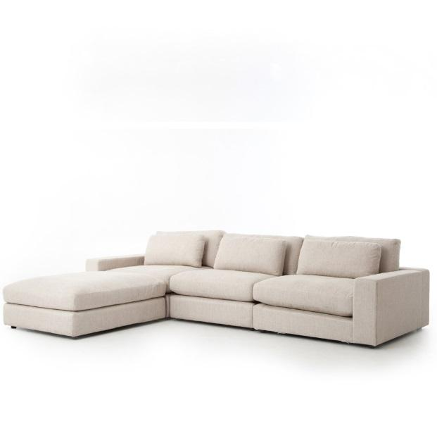 Bloor 3 Piece Sofa + Ottoman | Essence Natural