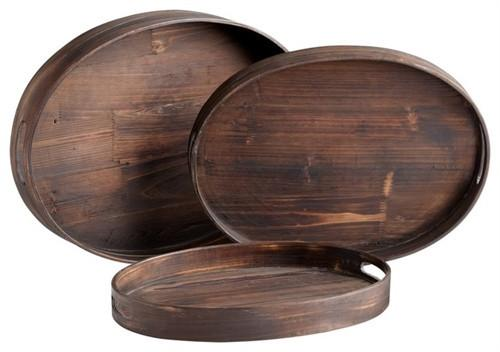 Oval Dupre Trays-Set of 3 - GDH | The decorators department Store