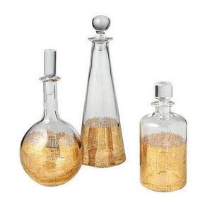 Crosshatch Decanters S/3 - GDH | The decorators department Store
