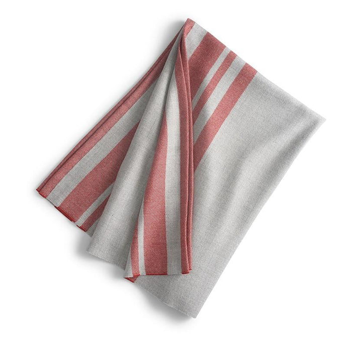 Cuzco Baby Alpaca Throw  Lt. Grey/Burnt Coral