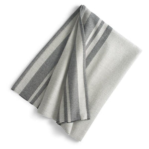 Cuzco Baby Alpaca Throw   Lt. Grey/Charcoal