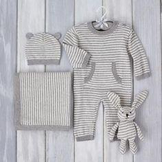 Grey Stripes Gift Set