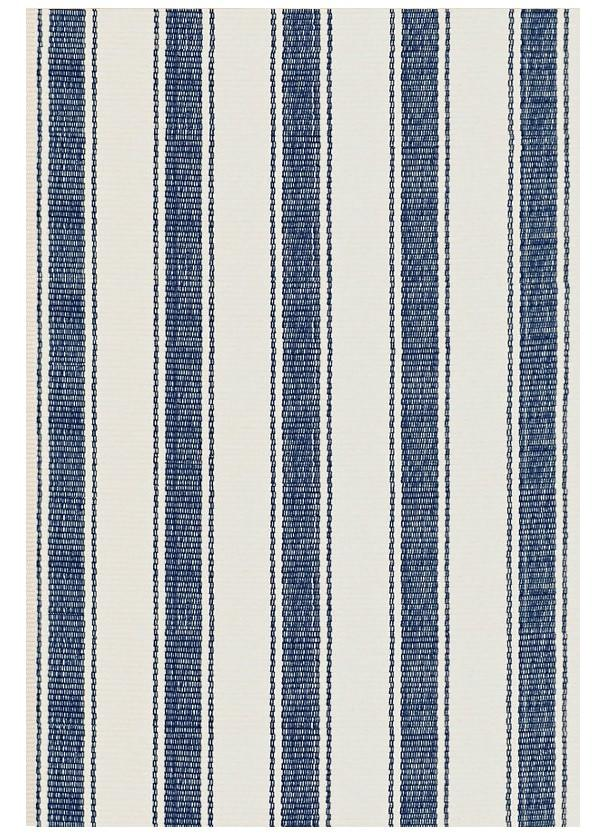 Blue Awning Stripe Woven Cotton Rug - GDH | The decorators department Store