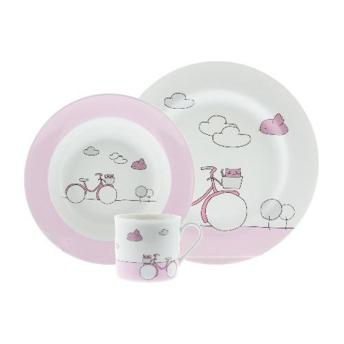 Pink Bike Baby Set by Sambonet - GDH | The decorators department Store - 1
