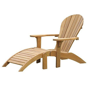 Adirondack Teak Lounger With Footrest