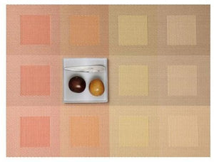 CHILEWICH Engineered Squares Placemat | Pale Orange - GDH | The decorators department Store