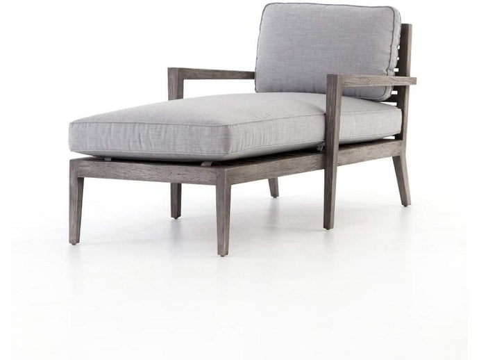 Laurent Outdoor Chaise | Canvas Graphite - Benton and Buckley