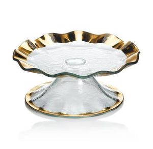 Annieglass Ruffle Petit Four Stand