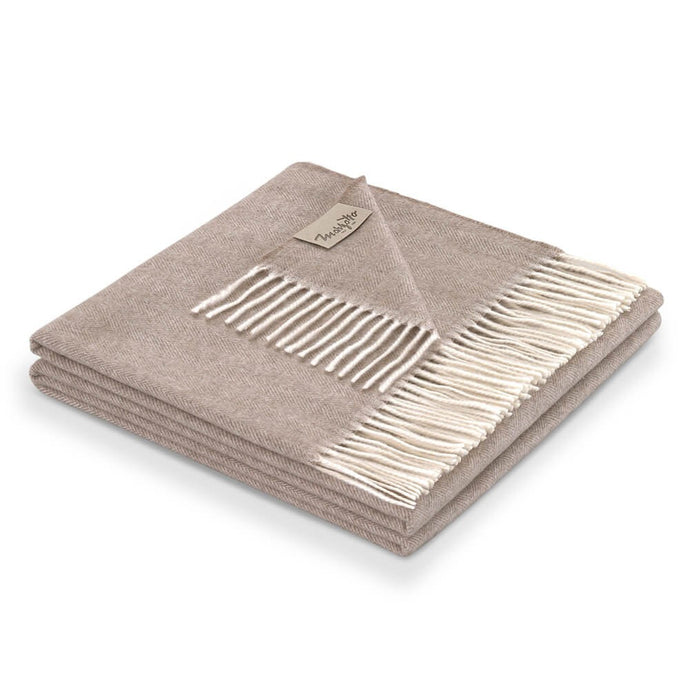 Kilimangiaro 100% Cashmere Throw | Beige