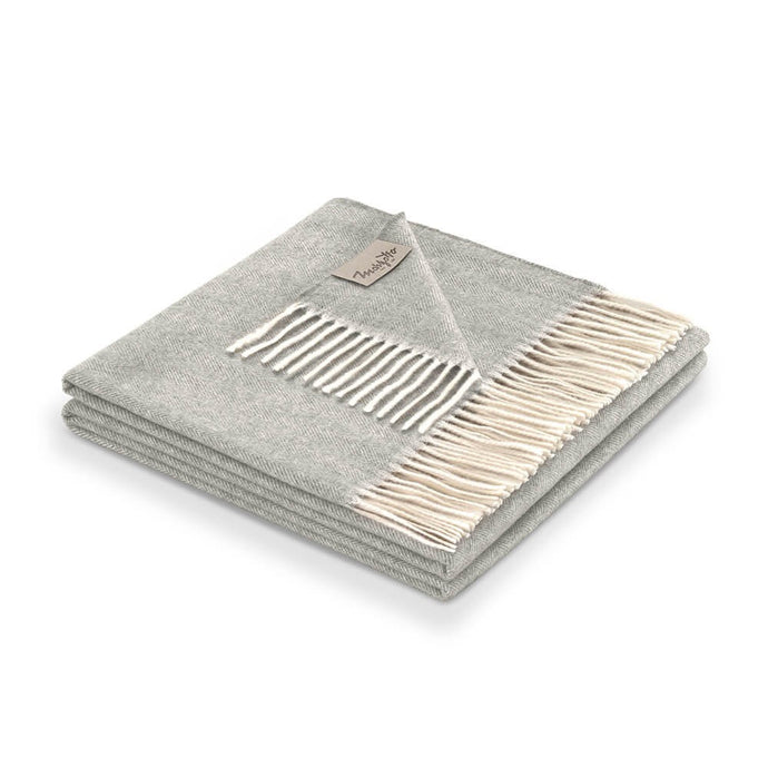 Kilimangiaro 100% Cashmere Throw | Grey