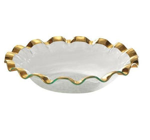 Annieglass Ruffle Series Large Salad Bowl