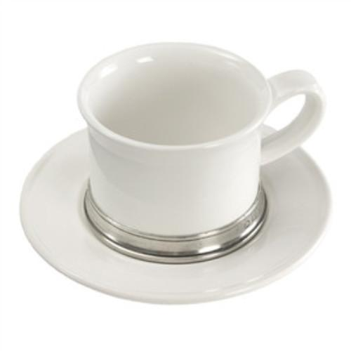 Match Pewter Convivio Tea and Cappuccino Cup and  Saucer - GDH | The decorators department Store
