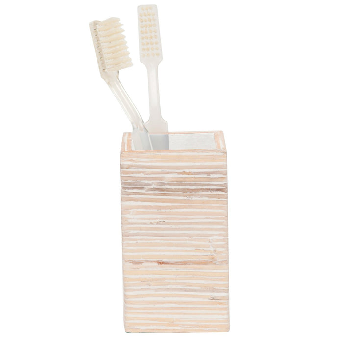 Kona Bleached Rattan Tooth Brush Holder