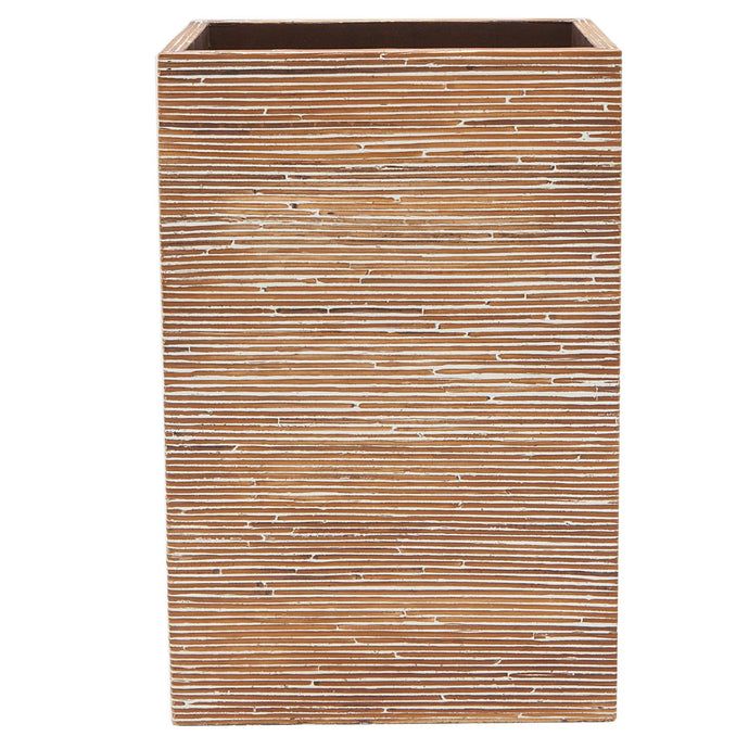 Kona Dark Brown Rattan Wastebasket