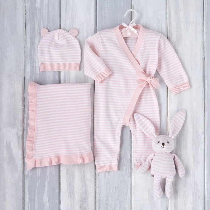 Pink Stripes Gift Set