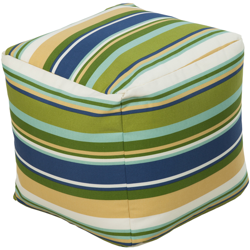 Outdoor Storm  Pouf | Blue - GDH | The decorators department Store