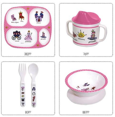 Princess Melamine Baby Dinnerware - GDH | The decorators department Store