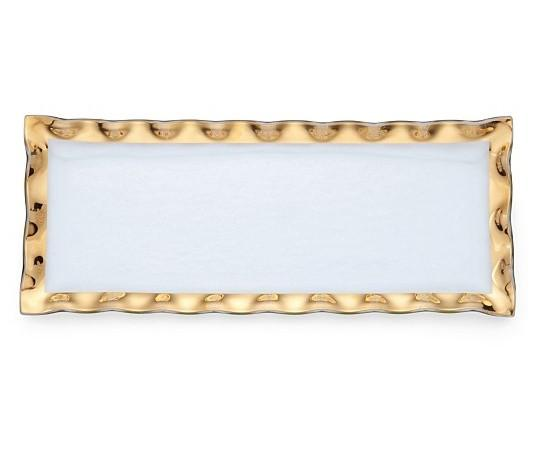 Annieglass Ruffle Rectangular Tray