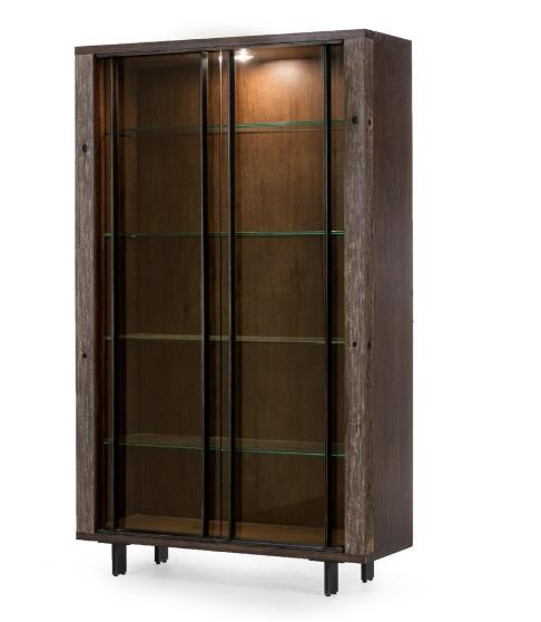 Geoff Bookcase with Glass Shelves - Benton and Buckley