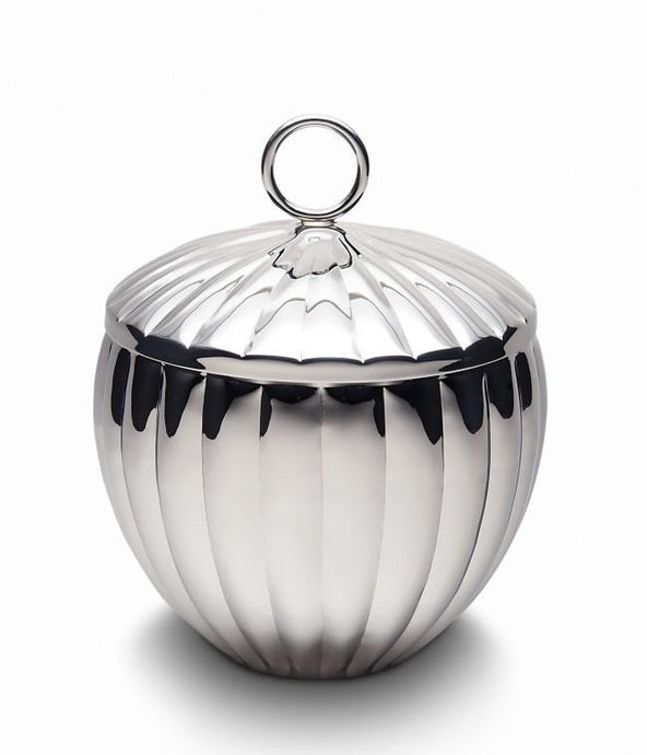 Silhouette Scalloped Ice Bucket w/ Lid