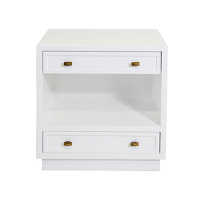 WARREN WHITE BEDSIDE CHEST - GDH | The decorators department Store