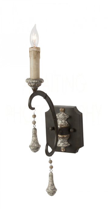 Crepon Sconce, Single Arm