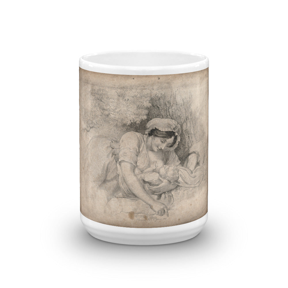 Woman Breastfeeding Her Child Mug