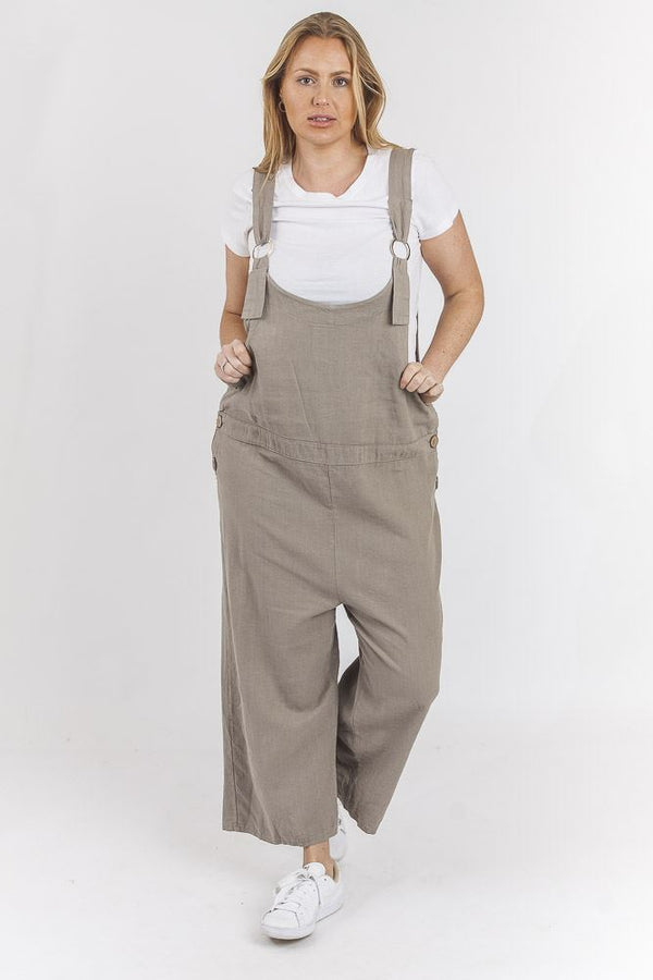 Dungaree Linen Jumpsuit