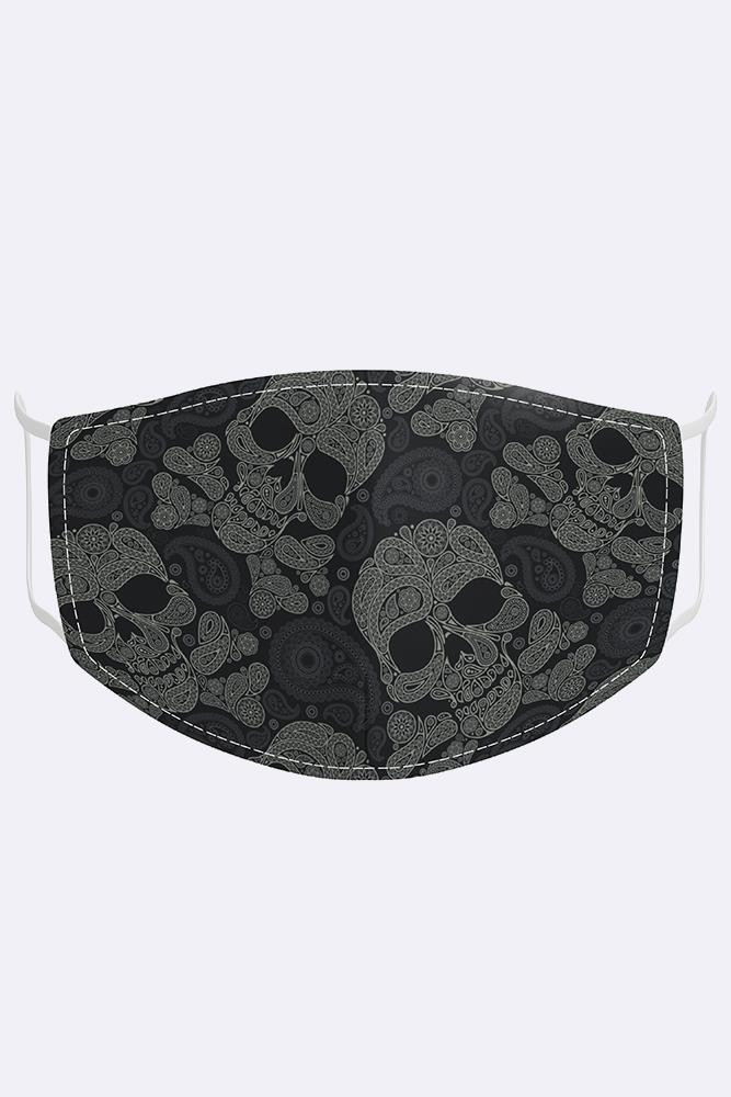 Paisley Skull Print Fashion Face Mask Cover